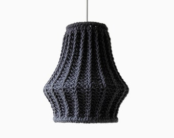 Oversize Knit Lampshade JUULA / Chunky Knit / Pendant Light / Unique Knitted Home Decor / Hanging Lamp Shade