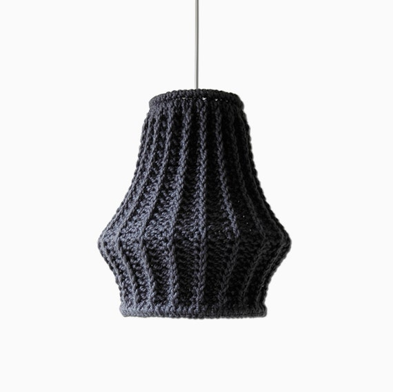 Items Similar To Oversize Knit Lampshade JUULA / Chunky