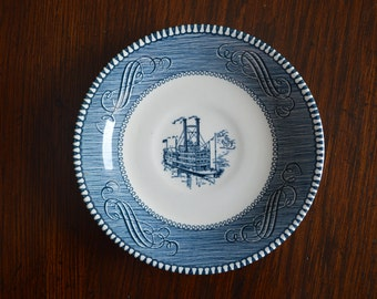 Vintage Currier & Ives saucers