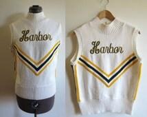 Vintage Cheerleading Sweater Vest