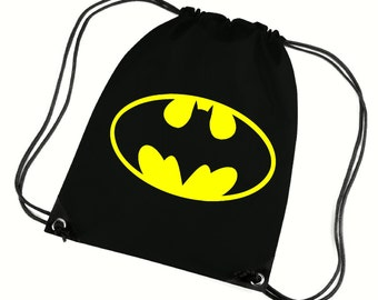 Batman gym bag,pe bag,school bag,water resistant drawstring bag.