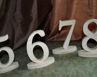6'' Wedding table numbers 1-15, wood table numbers, wood wedding numbers,
