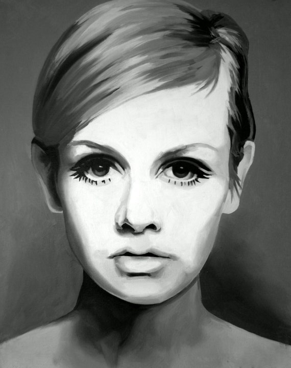 Twiggy Fine Art Print Lesley Lawson Swinging Sixties