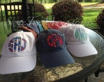Lilly or Vineyard Monogrammed Appliqué cap Pigment Dyed Monogrammed Cap Personalized Cap Comfort Color