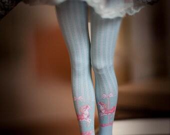 blue Merry-go-round bjd stockings  MSD / SD / Blythe / tiny