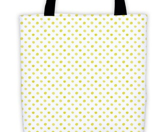 Gold Dots Tote