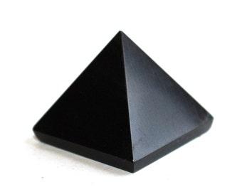 Black Obsidian Crystal Pyramid Natural Stone