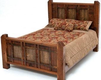 Rustic Barnwood Cabin Bed