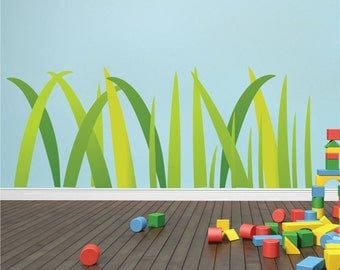 Grass And Flowers Wall Decal In Grass Decal Wall Decal - Wall decals grass