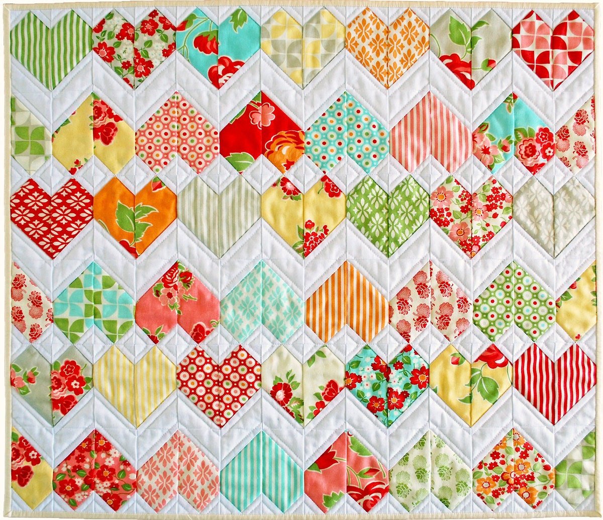 zigzag heart diamond quilt pattern pdf zigzag. Black Bedroom Furniture Sets. Home Design Ideas