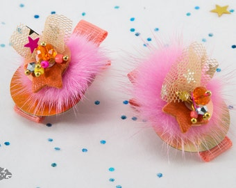 "Barrette clip hair ""Froufrou"" for little girls"
