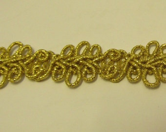 Metallic Gold Designer Braid/Gimp/Trim Craft/Haberdashery -hj1415