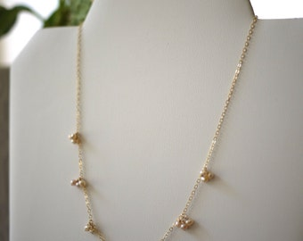 Wedding collection tiny cluster necklace