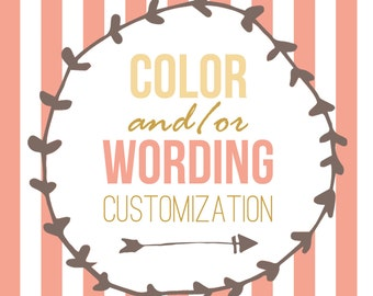 Color and/or Wording Change Listing