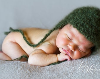 Newborn Boy Mohair Hat-Great Photography Prop!