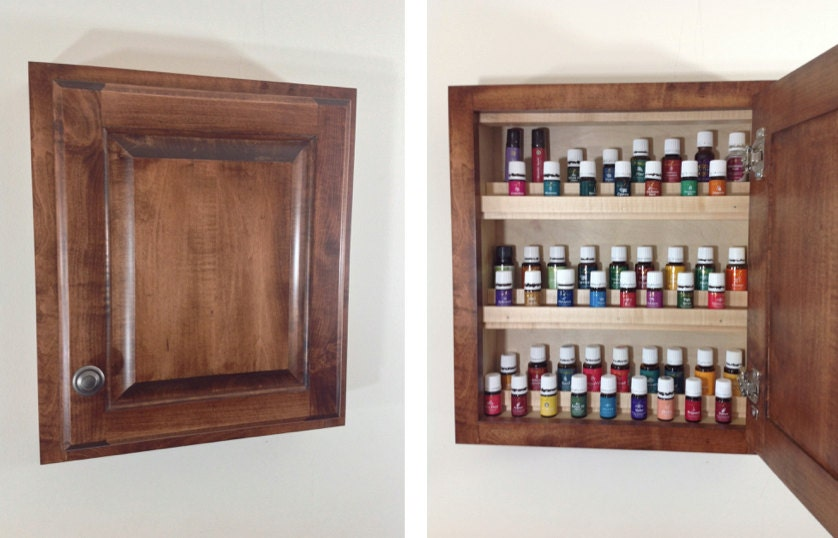 Items Similar To Wood Essential Oils Cabinet Amish Built