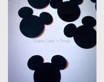 100 Mickey Mouse die cut confetti, Minnie Mouse die cut Confetti, Die Cuts, Punch Outs