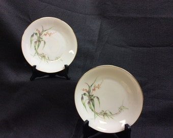 H&G Selb Bavaria Germany Heinrich Bread Plates Set of 2