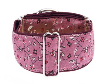 Martingale collar, greyhound collar, 2 inch, dog collar, martingale, pink collar,collars,dog collars,martingale collars