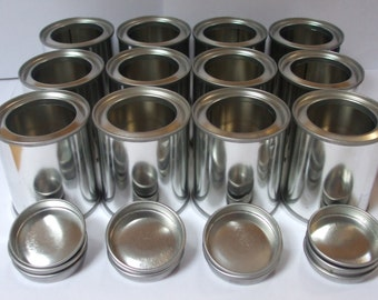 10% off sale 6 x 100ml empty lever lid paint tins, containers. With or without lacquer.