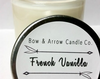Natural Soy Candle French Vanilla Scented   7 oz Jar Candle   Vanilla Soy Candle   Scented Soy Candle   Vanilla Candle   Gift Idea