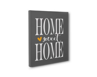 Home sweet home canvas print, canvas print, home decor, wall decor, bedroom, canvas, wall art, home canvas print, grey, bedroom,