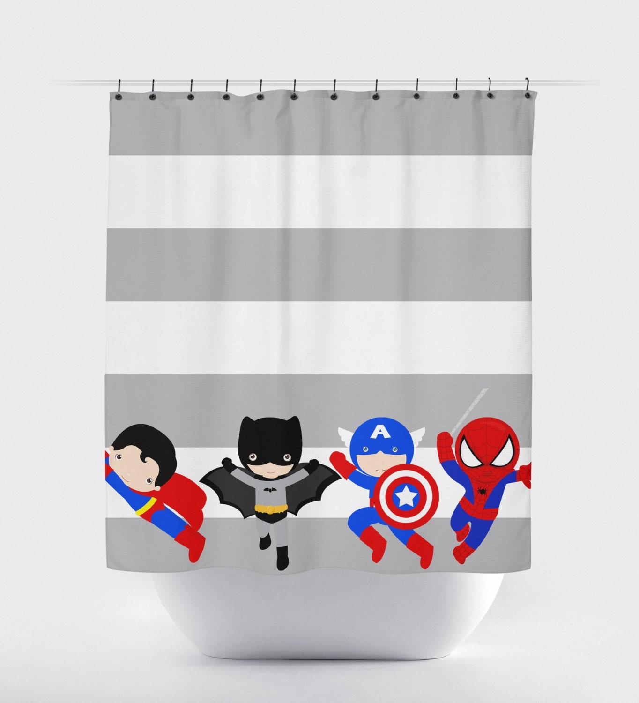 Superhero shower curtain rings myideasbedroom com