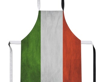 Vintage Italy Apron Country Flag Luxury Novelty Football Gift Kitchen Tabard Sport Italian Football Milan Linen