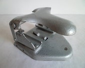 Vintage Metal Paper Puncher. Retro Desk Accessories. Made in the USSR 1970s.