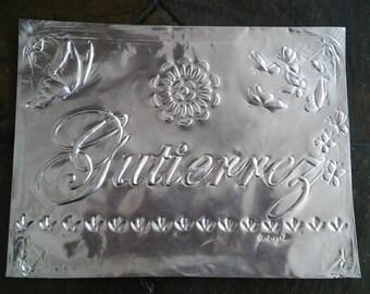 Embossed Aluminum Nameplate