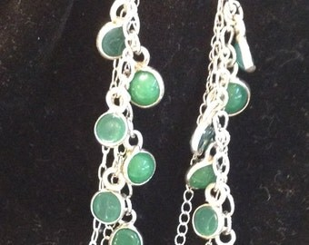 Sterling silver earrings with gemstones