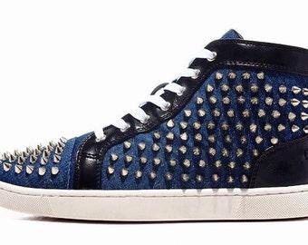 Handmade custom made spiked sneakers 5-11
