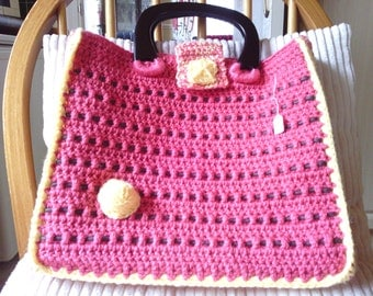 coral and lemon bag