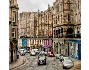Edinburgh Photography, Scotland Photography, Edinburgh Decor, Victoria Street, Fine Art Photography - Victoria Street Cab, Color