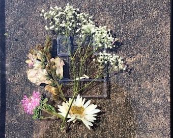 Pressed and framed floral arrangement
