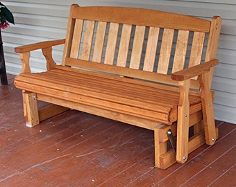 4 Foot Amish Heavy Duty 800 Lb Mission Pressure Treated Porch Glider