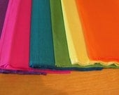 "6 SHEETS OF mexican crepe paper 19 ""x78"" bright mix for mexican flowers"