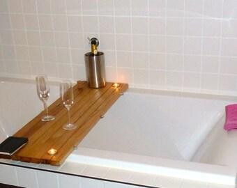 manobosco bath Board oak bath Board, tub Caddy