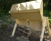 Top Bar Bee Hive with Observation Window, Kenya style hive