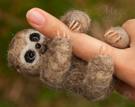 Felted Sloth Cute Sloth Needle Felt Animals Sloth Gifts