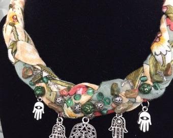 Beaded necklace , Oya necklace , Crochet necklace , Turkish yemeni