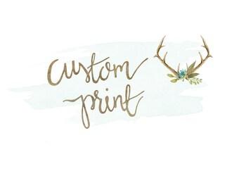 11x14 Custom Hand Lettered Print