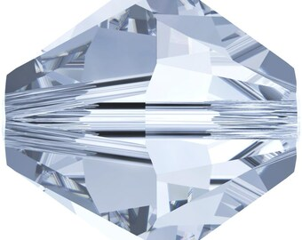 Swarovski Crystal Bicone Beads 5328 - 3mm 4mm 5mm 6mm 8mm - Crystal Blue Shade