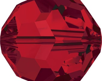 Swarovski Crystal Round Beads 5000 -  3mm 4mm 5mm 6mm 7mm 8mm 10mm - Light Siam