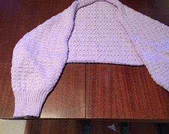 Knit Bed Jacket Light Purple with Shimmers