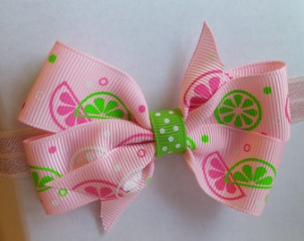 Pink Fruit Slices Headband