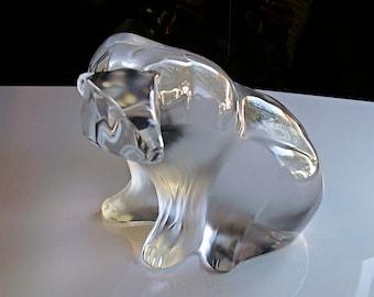 Rare Vintage Lalique Polar Bear France
