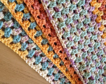 Handmad beautiful triangular crochet scarf
