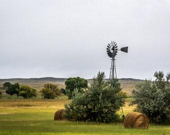 Nebraska Sandhill Windmill Note Card