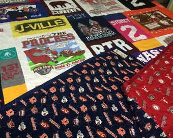 T-Shirt Quilt, Mosaic Memory Quilt Deposit